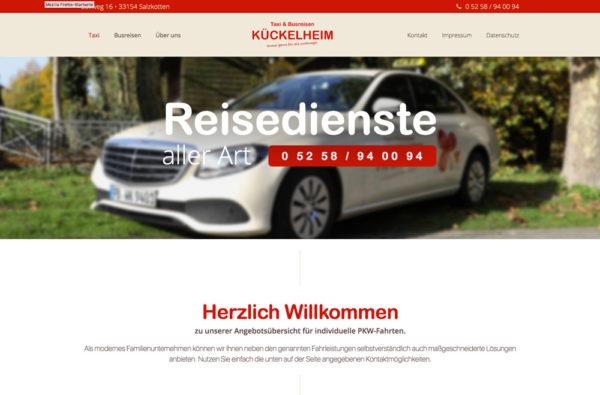 Aktuelles - Neue Internetseite - Taxi & Busreisen Kückelheim